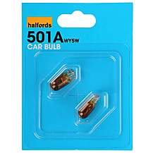 image of Halfords 501 W5W Amber Car Bulbs x 2