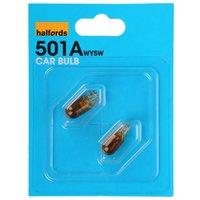 Halfords (HBU501A) 5W Car Bulbs x 2