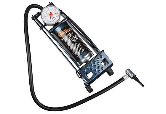 Halfords Essentials Metal Barrel Foot Pump and Gauge