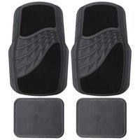 Carpet & Rubber Mat Set - Black