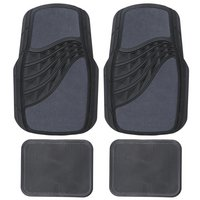 Carpet & Rubber Mat Set - Charcoal Grey