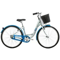 Raleigh Caprice Silver Womens Hybrid Bike