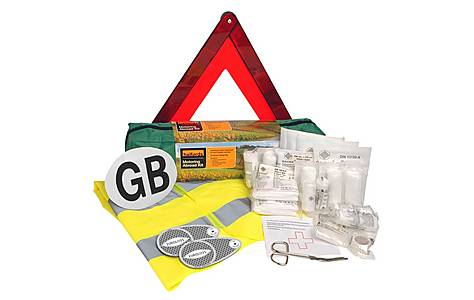 image of Halfords Motoring Abroad Kit