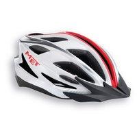 Met Pilgrim Helmet - White/Red/Anthracite, 64-61cm