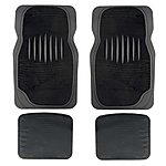 image of Halfords Carpet & Rubber Car Mats - Black (Set 6)