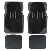 Halfords Carpet & Rubber Car Mats - Black (Set 6)
