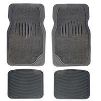 Halfords Carpet and Rubber Car Mats - Grey