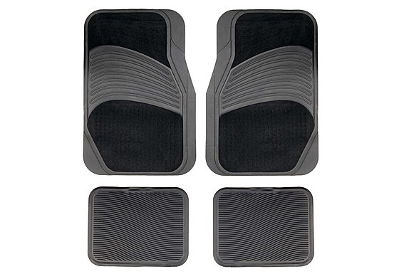 Halfords Carpet & Rubber Car Mats - Black