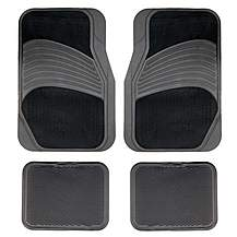 image of Halfords Carpet/Rubber Car Mats - Black (Set 7)