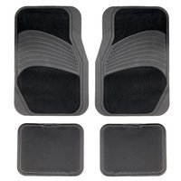 Halfords Carpet/Rubber Car Mats - Black (Set 7)