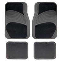 Halfords Carpet/Rubber Car Mats - Black (Set 7)
