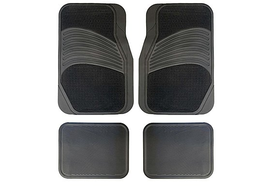 Halfords Carpet & Rubber Car Mats - Grey