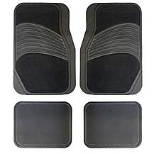 image of Halfords Carpet & Rubber Car Mats - Grey