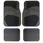 image of Halfords Carpet/Rubber Car Mats - Grey