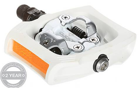 image of Shimano ClickR T400 Pedals - White