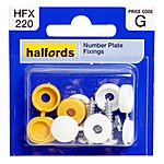 image of Halfords Number Plate Screws & Caps (HFX220)