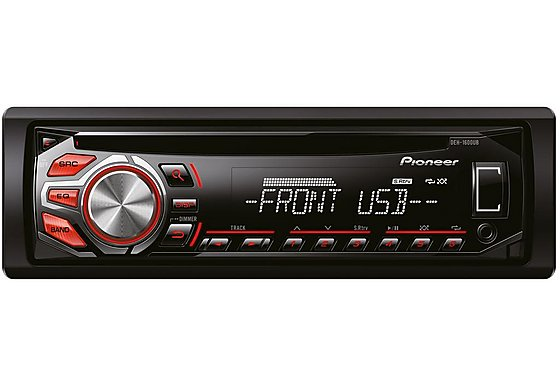 Pioneer DEH-1600UB RDS Tuner with Illuminated Front USB and Aux In