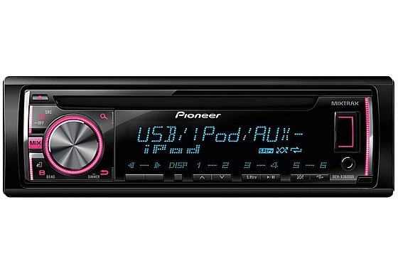 Pioneer DEH-X3600Ui CD Tuner with Front USB and Aux-in and iPod/iPhone Control