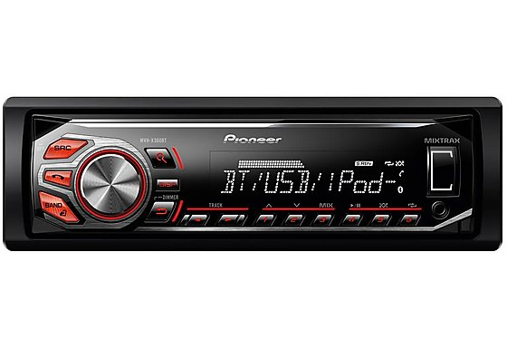 Pioneer MVH-X360BT RDS Tuner with Bluetooth and iPod/iPhone Direct Control