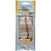 image of Yankee Candle Car Jar 3pk Beach Vacation Air Freshener