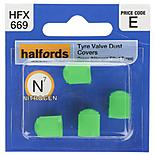 Halfords Tyre Valve Dust Caps Green (HFX669)