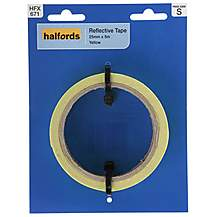 image of Halfords Reflective Tape Yellow 25mm x 5M (HFX671)