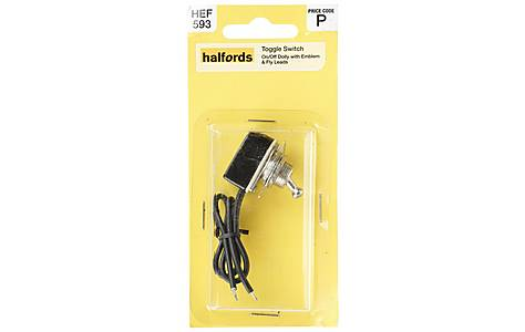 image of Halfords Toggle Switch On/Off Metal Non Illuminated (HEF593)