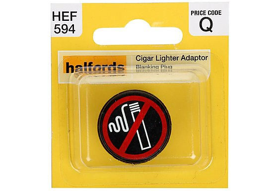 Halfords Cigarette Lighter Adaptor Blanking Plug (HEF594)