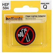 image of Halfords Cigarette Lighter Adaptor Blanking Plug (HEF594)