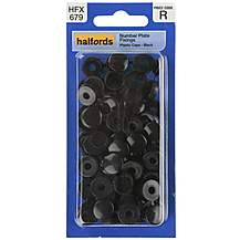 image of Halfords Number Plate Plastic Caps Black (HFX679)