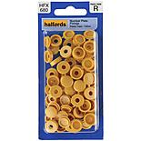 Halfords Number Plate Plastic Caps Yellow (HFX680)