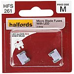 image of Halfords Fuse Micro Blade LED 3 Amp (HFS261)