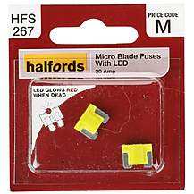 image of Halfords Fuse Micro Blade LED 20 Amp (HFS267)