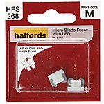 image of Halfords Fuse Micro Blade LED 25 Amp (HFS268)