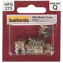 image of Halfords Fuse Mini Blade 5 Amp (HFS273)
