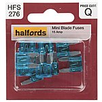 image of Halfords Fuse Mini Blade 15 Amp (HFS276)