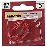 image of Halfords Fuse Mini Blade With Breakout Wire 10 Amp (HFS280)