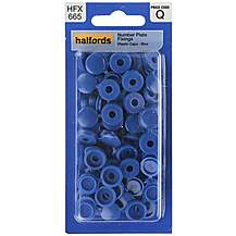 image of Halfords Number Plate Plastic Caps Blue (HFX665)