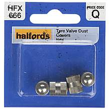 image of Halfords Tyre Valve Dust Caps Metal (HFX666)