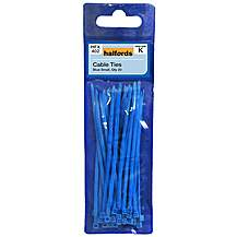 image of Halfords Cable Ties Blue