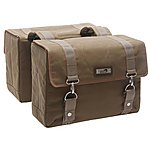 image of New Looxs NL MONDI DOUBLE PANNIER CANVAS BROWN