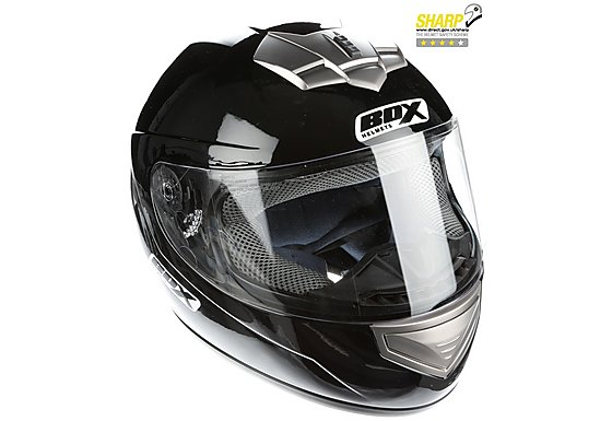 Oxford Box Bx-1 Black Motorcycle Helmet Small B1BS