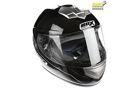 image of Oxford Box Bx-1 Black Motorcycle Helmet Large B1B