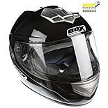 Oxford Box Bx-1 Black Motorcycle Helmet Large B1B