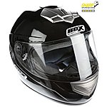 image of Oxford Box Bx-1 Black Motorcycle Helmet Large B1B