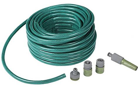 image of Rolson 30mtr Garden Hose with Fittings