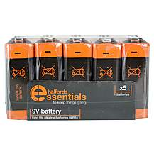 image of Halfords Essential Batteries 9V x5