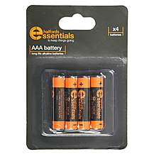 image of Halfords Essential Batteries AAA x4