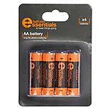 Halfords Essential Batteries AA x4