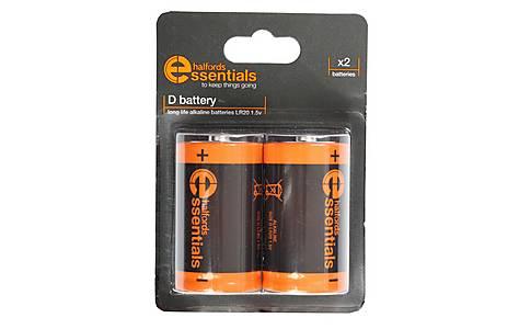 image of Halfords Essential Batteries D x2